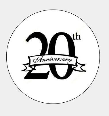 "(63) 20th Wedding Anniversary 1"" Round Seals Party Favors Envelopes"
