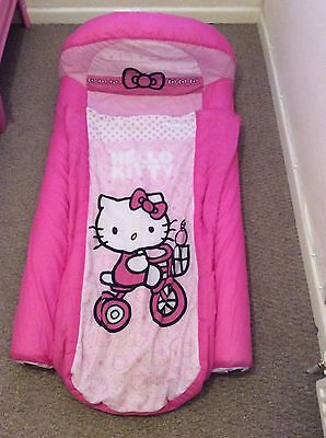 check out 8b49f e00ff Junior childs inflatable hello kitty ready bed Kids sleeping bag argos  £29.99