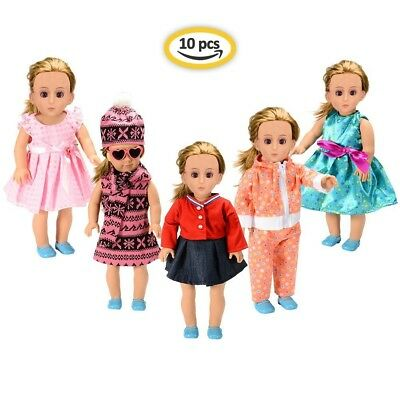 (10 Pcs) - American Girl Doll Clothes Wardrobe Makeover , 5 Outfits American