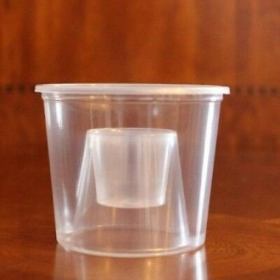 50 - Disposable Plastic Power Bomber Shot Cups or Jager Bomb Glasses. Polar Ice