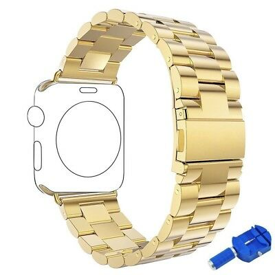 (Gold - 38mm) - Apple Watch Band, Aokay Solid Stainless Steel Metal