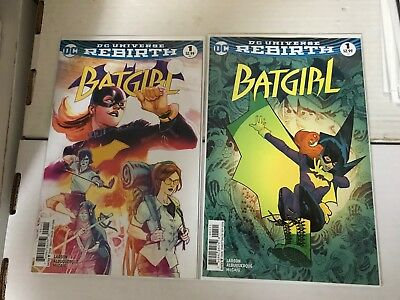 BATGIRL (2016 DC Rebirth) #1 A & B  NM 1st Print Batman Birds of Prey Silencer