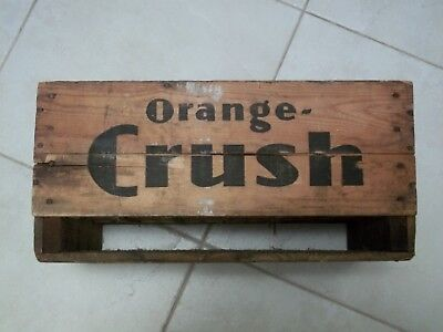ORANGE CRUSH 10-1947 ACL 24 Glass 7 Oz BOTTLE Wood CRATE CARRY CASE Empty RARE