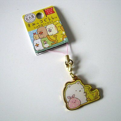 San X Characters Gold Tone Cell phone Charm, Labelled Product Planning in Japan