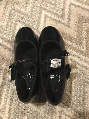 Girls size 11 black tap shoes
