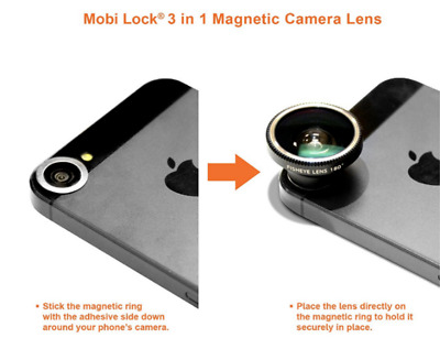 3 in1 Universal Fish Eye+Wide Angle+Macro Camera Clip-on Lens for iPhone Samsung