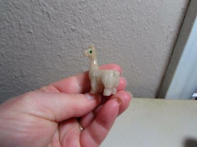 Llama Hand carved Marble from the Andes of Peru Rich Hued stone Llama Miniature