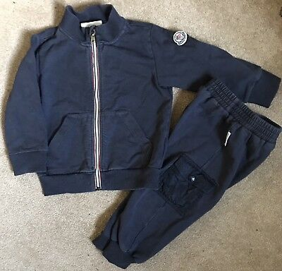 moncler tracksuit navy blue