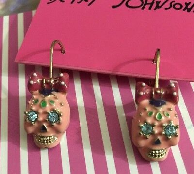 Betsey Johnson Day Of The Dead Beautiful Earrings Rio Collection