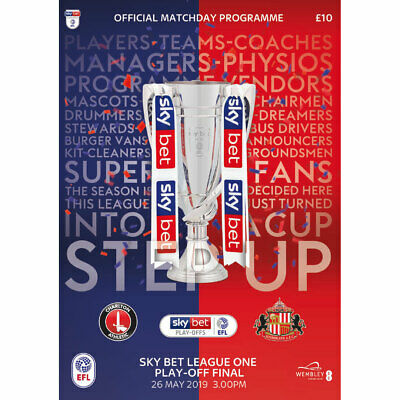 2019 SkyBet League One Play-Off Final Programme - Charlton Athletic v Sunderland