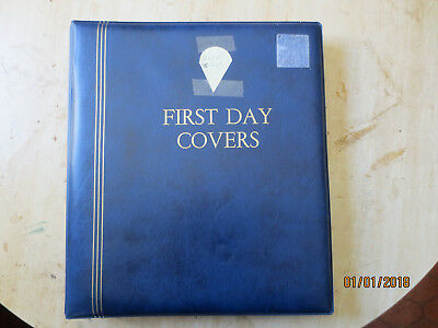 No-58- FDC  ALBUM   20  PAGES  +  75  FDC'S  -3  RING  BINDER--GOOD ORDER