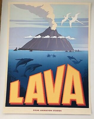 Lava Pixar Short Film Original Movie Poster Volcano 17 X 22 Inch Hawaii Rare!