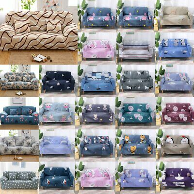 1/2/3/4 Seaters Modern Floral Sofa Couch Cover Stretch Slipcover Protector Soft