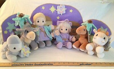 Precious Moments Tender Tails 1999 10 piece Plush Nativity Set Mary Joseph Baby