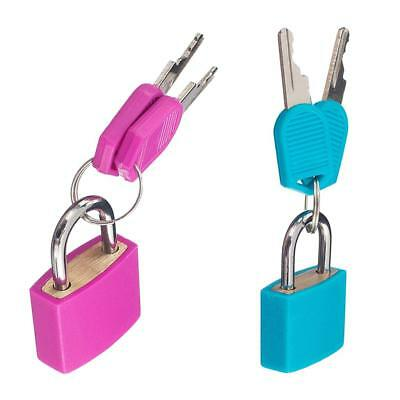 2 Pack Padlock with Two Keys Travel Suitcase Luggage Security Lock Rose+Blue