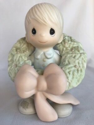 Precious Moments Surrounded With Joy Figurine E-0506 1989 Signed Collectible
