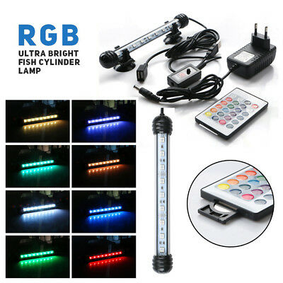 Aquarium Fish Tank RGB 5050SMD LED Light Bar Submersible Waterproof Light Lamp