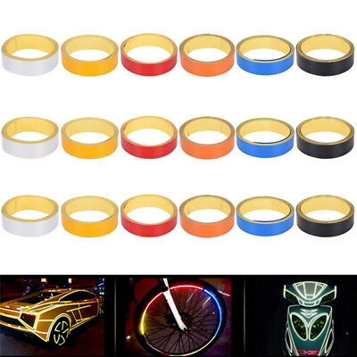 1 Roll Reflective Night Safety Warning Stripe Car Truck Tape Sticker 2cm*5m BDAU