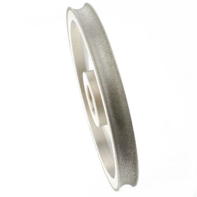"""6"""" inch Lapidary Concave Arc Spherical 20 mm 3/4"""" Diamond Grinding Wheel Coated"""