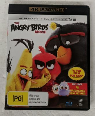 THE ANGRY BIRDS MOVIE - 4K ULTRA HD + Blu-ray Region A B C oz seller 4K UHD DVD