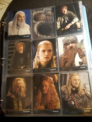 Lot Of 261 Lord Of The Rings Trading Cards Nlp Te Masterpieces Decipher King