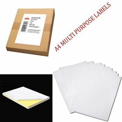 A4 White MATTE Self Adhesive / Sticky Sticker Address Label Printing Paper Sheet
