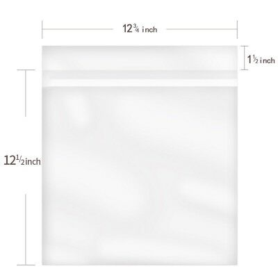 25PCS Resealable Cover for 12 inch LP LD Record Vinyl Plastic Bag Outer Sleeves