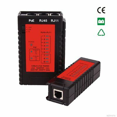NF-468PF Cable Continuity Tester POE Tester RJ11 & RJ45 Cable Quick Detector GT