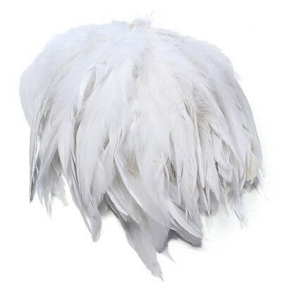 100Pcs White Fluffy Rooster Feather Bridal Wedding DIY Craft Millinery Juju Hat