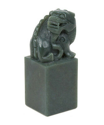 China 20. Jh Siegel A Chinese Green Jade Seal Sigillo Giada Cinese Sceau Chinois