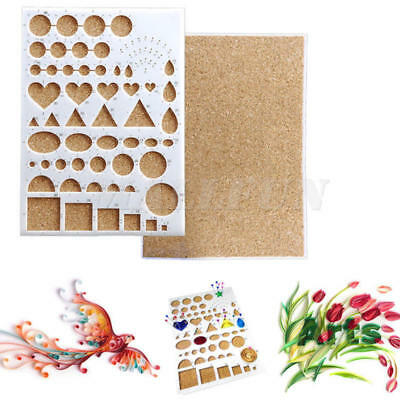 Paper Quilling Template Mould Board Handcrafts DIY Art Tool Scrapbooking Mold