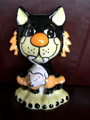 Lorna Bailey Cat Full Size Fireside Ratcatcher With Rare Usa Backstamp