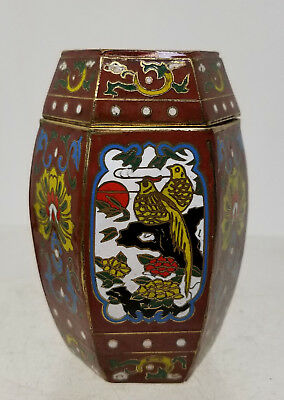 Antique Vintage Chinese 20th Century Republic Cloisonne Vase Prunus Gilt