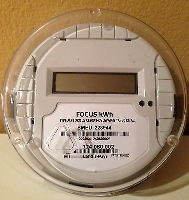 New Landis & Gyr Electric Kilo Watt-hour Meter (KWH) Single-Phase 240 Volt