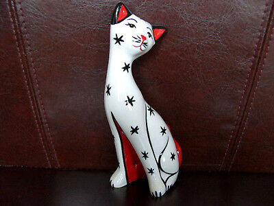 Lorna Bailey Cat Snowy With Snow Flakes 1/1 Colourway Signed Unique