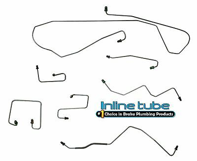 1998-02 Dodge Durango 4x4 Power Disc/Drum with ABS Front Brake Lines OE 7pc