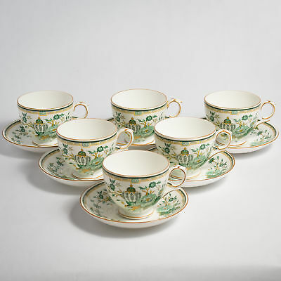Crown Staffordshire KOWLOON TEA Cups & Saucers Six 6