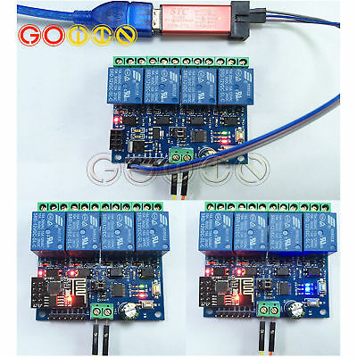 12V 4-Channel ESP8266 Wifi Relay Remote Control Switch APP for Smart Home