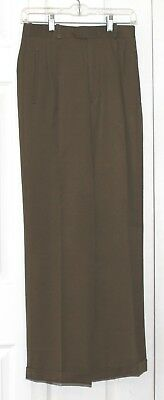 BARRY BRICKEN Pleated Front Pant Kaki Green Size 6