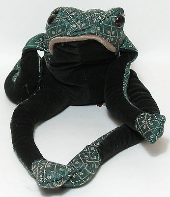 Fredrick the Frog Lavender Scented Brocade Fabric Paperweight New Dora Design