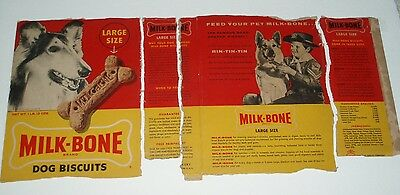 1950's Rin Tin Tin Milk Bone Dog Biscuit Box