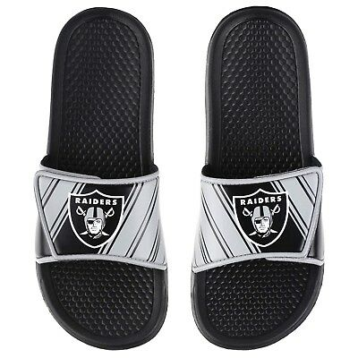 58f96a34901 NFL OAKLAND RAIDERS Men s Deluxe Foam Sport Slide Sandals -  29.99 ...