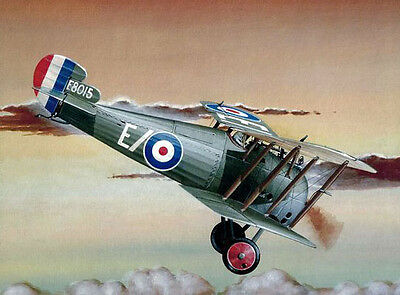 """Model Airplane Plans (FF): Sopwith Snipe 7/8"""" = 1' Scale 24½""""ws for .049 Motor"""