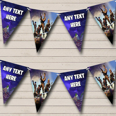 Fortnite Party Banner Game Personalised Birthday Bunting