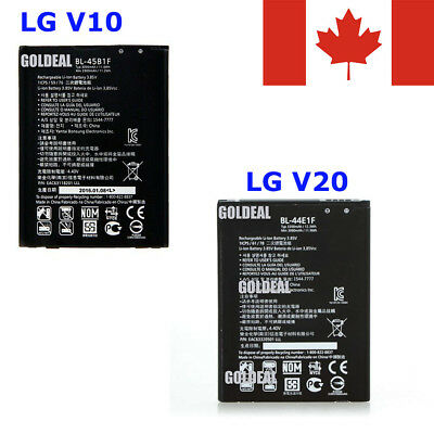New Repacement Li-ion Battery for LG V10, BL-45B1F & LG V20, BL-44E1F / Charger