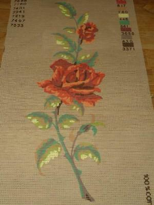 Collection D'art 11140  Rose Tapestry Canvas  7 * 19""