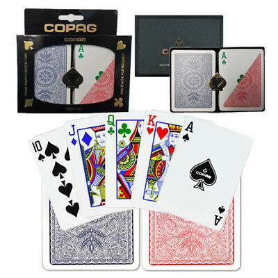 COPAG Plastic Playing Cards Poker Size Regular Index 4 Colors Free Gift