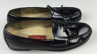 e999286c2a7 COLE HAAN CITY Mens Pinch Tassel Loafer Black Leather Size 10 D ...