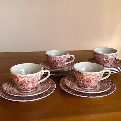 "J BroadHurst Ironstone ""The Constable Series"" 3 x trios plus spares Bulk Lot"
