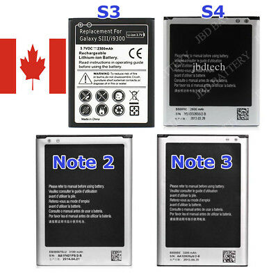 New Repacement Li-ion Battery for Samsung Galaxy S3, S4, Note 2, Note 3